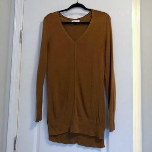 Old Navy V Neck Caramel Sweater Light Weight